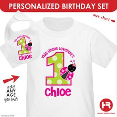 1st Birthday Ladybug Birthday Shirt or by HeatherRogersDesigns, $29.50