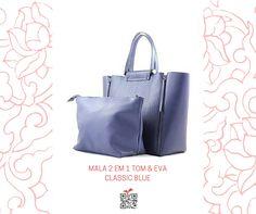 Mala 2 em 1 Tom & Eva Classic Blue, de cor azul #canvacup