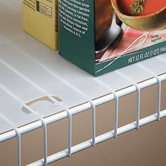 This plastic shelf liner can be utilized as a kitchen shelf liner to protect wood cabinet shelves, or a wire closet shelf liner. The clear shelf liner features locking tabs to hold it securely in place on wire shelving.