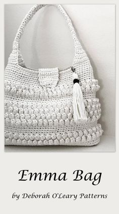 This listing is for a CROCHET PATTERN - Emma Bag Pattern- NOT a finished product. Emma Bag Pattern - This is a beautiful and easy to make crochet bag. Bag Crochet, Crochet Purse Patterns, Crochet Shell Stitch, Crochet Clutch, Crochet Handbags, Crochet Purses, Crochet Stitches, Cheap Bags, Crochet Accessories
