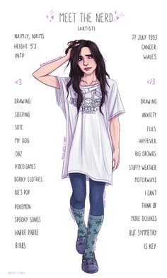 Meet the Artist Tag Thing (Nerd) by Naimly.deviantart.com on @DeviantArt