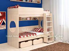 Детская двухъярусная кровать СКАЗКА-7 /k1 (Венге светлый)