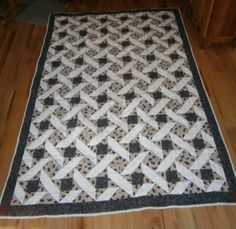 Made bear quilt for rocking chain. It's nice and long. Tope was machine sewn and the rest by hand.