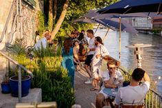 Zürichs kulinarische Sommer-Oasen | GaultMillau – Channel Basil Smash, Neapolitanische Pizza, Pizzeria, Grob, Channel, Drinks, Wine List, Summer, Drinking