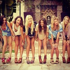Besties. Wanna take a shot like this with all the girls for a keepsake in a million years.