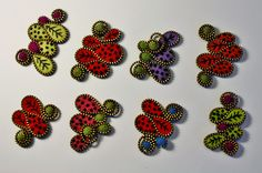 Squiggle brooches. | Odile Gova | Flickr