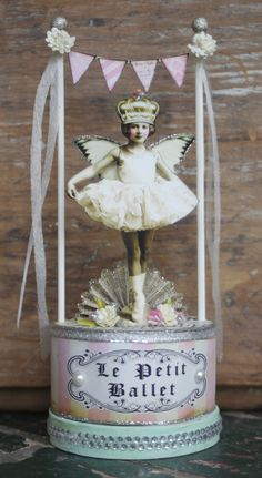 by Debrina Pratt  young girl cut out w wings, crown & tutu