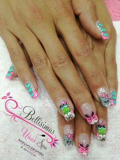 Kawaii Nail Art, Animal Nail Art, Nail File, Toe Nails, Summer Nails, Pretty Nails, Pedicure, Hair And Nails, Nail Art Designs