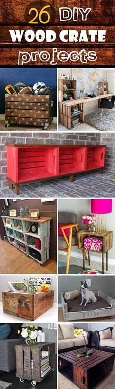 DIY wood crate projects offer endless possibilities for upcycling and repurposing. They are an inexpensive, versatile medium for you to add functionality to your home with a personal touch. You can find simple instructions and tutorials to turn crates into furniture, such as bookcases, tables...