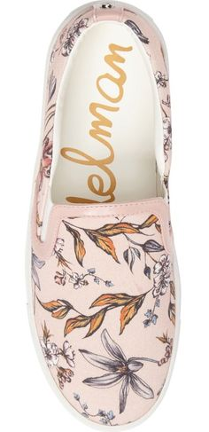 Cheery flowers bloom across this cute canvas slip-on by Sam Edelman.