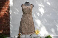 Beige summer dress by WooWhoVintage on Etsy