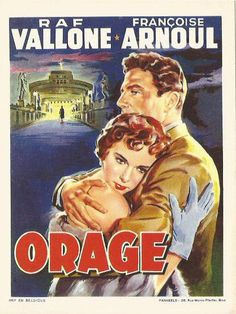 Image 10,7x 14 cm Orage - Raf Vallone Francoise Arnoul France, Baseball Cards, Boutique, Sports, Image, Souvenir, Hs Sports, Sport, Boutiques