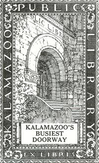 A bookplate used by the library for many years