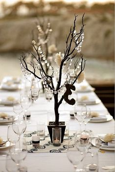 simple centerpieces for a winter wedding! another great find from etsy!