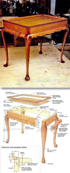 Tea Table Plans - Furniture Plans and Projects | WoodArchivist.com