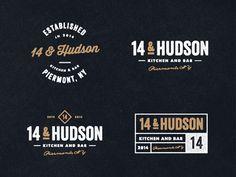 Dribbble - 14 & Hudson Logo (WIP) by Jeremy Vessey