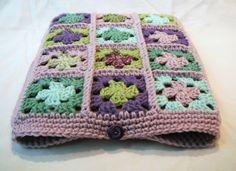 Crochet Granny Square Laptop Sleeve: http://www.etsy.com/listing/117477170/crocheted-granny-square-13-inch-laptop?