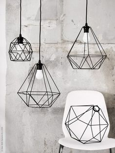 15 Beautiful Geometric Lamp Designs If you need to have a cool lamp which is not only for your home light but also perfect for decorating your home, you should choose the geometric lamp. As its name, this lamp is a unique lamp with the Decorating Your Home, Interior Decorating, Interior Design, Home Design, Blog Design, Design Design, Geometric Lamp, Geometric Designs, Geometric Pendant Light