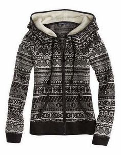 AE Fair Isle Polar Fleece Hoodie - Looks cozy. Sweater Weather, Look Fashion, Fashion Outfits, Polar Fleece, Up Girl, Look Chic, Looks Cool, Mode Style, Fleece Hoodie