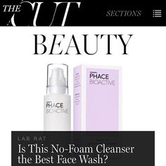 "Wow! New York Magazine's ""The Cut"" LOVES our cleanser after a month's test. Thanks Ashley Weatherford for a fantastic endorsement! #thephacelife #ph #phbalance #healthyskin #clearskin #nymag #nyc #buildingabrand #thephaceglow #skin #skincare #nontoxic #thisworks #thecut"