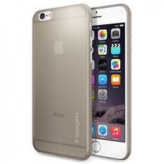 Spigen AirSkin Case - качествен ултратънък (0.4 mm) кейс за iPhone 6 (златист-опушен): • Производител:Spigen • Модел: AirSkin… www.Sim.bg