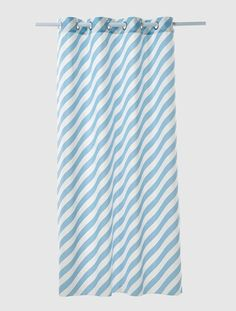 Curtain Blue / stripe+Blush / stripe