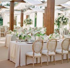 Outdoor Elegance with White Draping