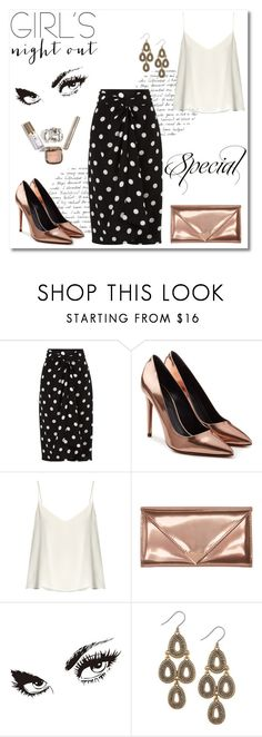 """GIRL'S night out"" by ninas-824 ❤ liked on Polyvore featuring Andrea Marques, Alexander Wang, Raey, WALL and Lucky Brand"