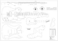 Full Scale Plans  Fender Telecaster Deluxe Electric Guitar  Technical Design Drawings ** Want to know more, click on the image.Note:It is affiliate link to Amazon.