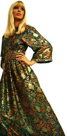 1968 Brocade dress Christian Dior