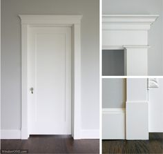 Making Craftsmanship Great Again: The Willing House (Part Historic Trim) - WindsorONE - (Part 3 of What's a great way to show off your craftsmanship? Historically accurate moldings t - Home Renovation, Home Remodeling, Door Frame Molding, Window Molding Trim, Wall Trim, Interior Door Trim, Interior Door Styles, Interior Design, Farmhouse Interior Doors