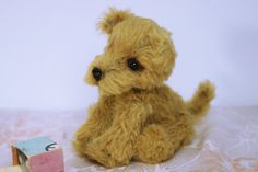Shop for teddy bear lovers by SoftspotDesign Irish Terrier, Toy Puppies, Knitted Animals, Handmade Toys, Dog Toys, Fiber Art, Etsy Seller, Plush, Teddy Bear