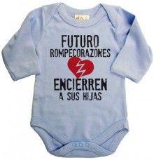 Dirty Fingers, Futuro Rompecorazones, Bebés Body con manga larga, azul pálido, 3-6 meses