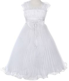 Find the perfect fairy princess white flower girl dress. Perfect for a beach or spring garden themed wedding. White Flower Girl Dresses, White Dress, Fairy Princesses, Princess Dresses, Spring Garden, White Fabrics, Ruffles, Chiffon, Touch