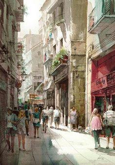 Barcelona old town-Takashi Akasaka