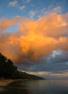 Clouds over Painapo beach - Moorea island