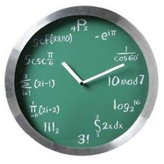 Gift Idea: What On Earth Math Clock. Perfect for Daylight Saving Time & Springing It Forward. See more awesome clocks on http://blog.gifts.com/holidays/daylight-saving-time-spring-forward