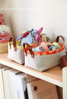 yippee...accidentally found the tutorial for these fabric baskets, here it is...
