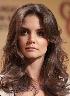 16 Inch Wavy Katie Holmes Lace Front 100% Human Wigs