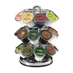 Keurig® 27-Count K-Cup® Pod Carousel | Holds up to 27 of your favourite K-Cup pods! #kcup #keurig #shelf