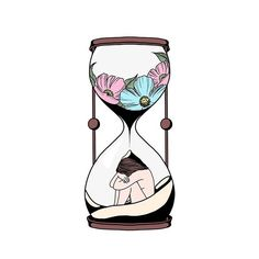 More Sunday morning doodles... #art #drawing #illustration #clipart #lol #graphicdesign #procreate #pink #blue #flowers #hourglass #htx #minimalist