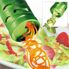 Transform your vegies into spaghetti or spirals in seconds with the Easy Garnish Veggie Twister. Easy to use with almost no effort required. Very easy to store and it fits in a drawer with ease. A perfect gadget for your kitchen!
