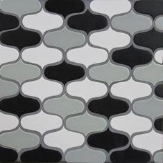 Ogee Cloud- Medium Gray Matte, Black Matte, White Matte
