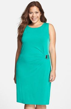 f6bc87995cc MICHAEL Michael Kors Sleeveless Drape Front Jersey Dress (Plus Size)  available at  Nordstrom