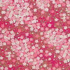 Chiyogami - Cherry Blossom Bouquet on Magenta - Scrapbook Paper