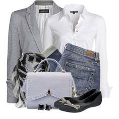 Grey white denim lbv