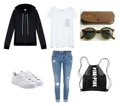Sans titre #27 by paolacarreau on Polyvore featuring polyvore, fashion, style, Splendid, Zara, River Island, adidas Originals and Ray-Ban