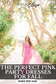 Click here to see THE PERFECT PINK PARTY DRESSES FOR FALL on Maxie Elise Blog! Best party dresses for women over 30 night classy. Stylish party dresses for women night classy. Adorable fall dresses to wear to a wedding. Awesome fall dresses with boots and tights. Pretty fall dresses with boots casual simple. Ultimate simple wedding dresses with sleeves casual fall. Best hot pink dress outfit fall and pink maxi dress outfit fall. #fall #dress #party