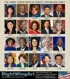 Faces of the Republican Party.  All racist, no doubt. And, of course, we want everyone who is not rich and white to disappear. Such utter nonsense!!!!