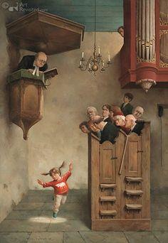 Marius van Dokkum - Dansje in de kerk.  Want zo hoort het.